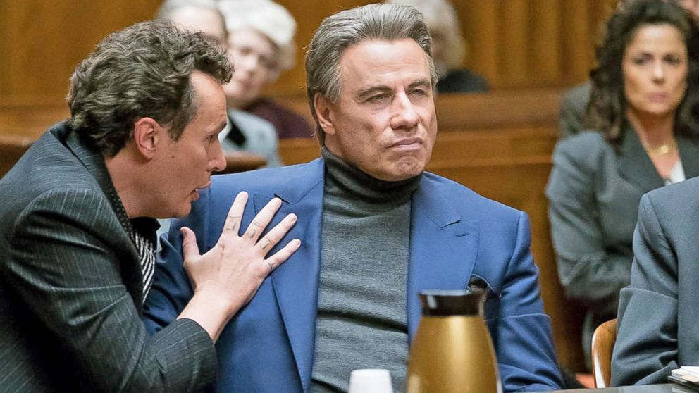 John Gotti courtroom scene played by John Travolta